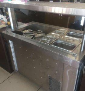 Прилавок холодильный с гастроемкостями