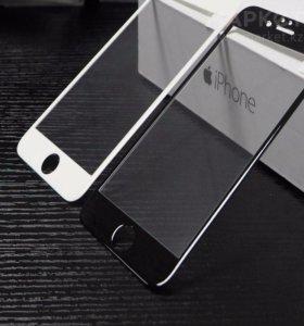 Защитное стекло 3D, 5D чёрное и белое на iPhone