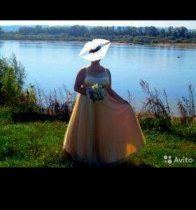 Платье вечернее (свадебное) размер 54-56,рост 170