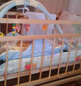 Детская кроватка +2  подарка