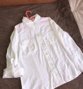 Рубашка белая б/у пару раз