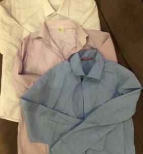 3 рубашки за 400р. На 7-9 лет, рост 122-134