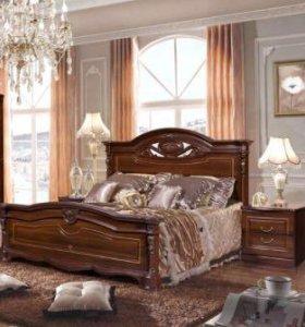 Кровать и 2 тумбочки Сорренто в заводской упаковке