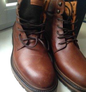 Ботинки кожаные мужские весна / осень