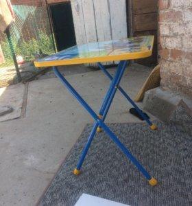 Стол и стул раскладной детский