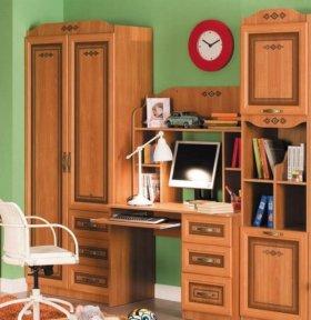 Письменный стол+гардероб+стеллаж для книг