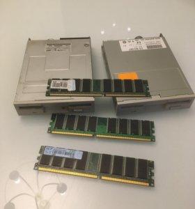 Модули памяти и др. компьютерные комплектующие
