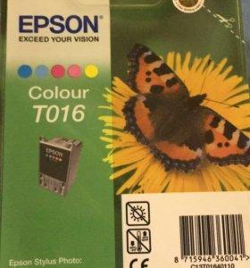 Картридж EPSON Т 016 новый в упаковке