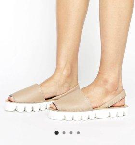 Новые кожаные эспадрильи сандалии женские