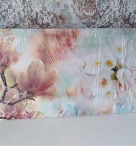 """Картина на холсте """"ветка сакуры"""" 100×50"""