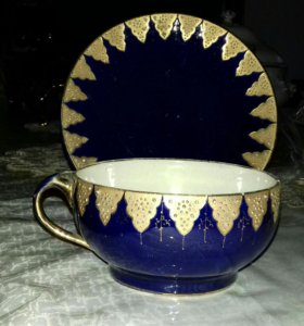 Тарелка и чашка антиквариат