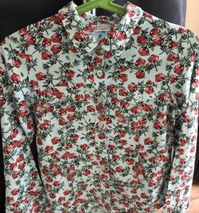 Рубашка для девочки 6-8 лет