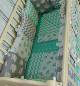 Бортики в детскую кровать. Конверт на выписку.