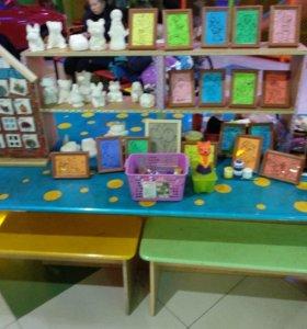 стол для детской творческой мастерской