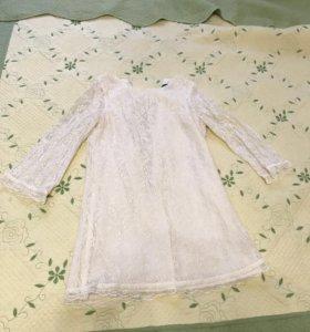 Белое платье-сарафан