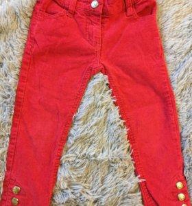 Вельветовые штаны для девочки