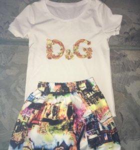 Футболка и юбка D&G