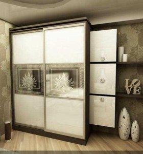 Шкаф-купе Линейный с Оригинальными Вставками