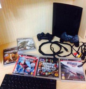 Playstation 3(PS3)+40 игр+2 геймпада(не прошитая)