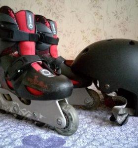 Ролики детские, шлем и защита