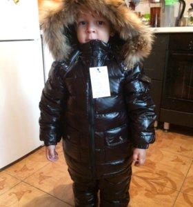Костюм зима, комбинезон и куртка рост до 110