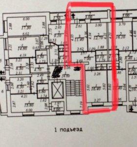 Квартира, 2 комнаты, 55.9 м²
