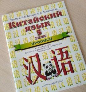 Прописи Китайский Язык 5 класс (1-ый год обучения)