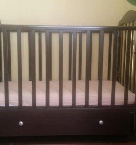 Детская кроватка sweet baby Eligio (венге)
