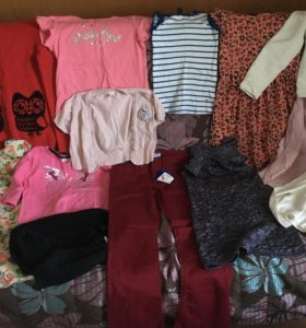 Одежда на девочку пакетом размер 146