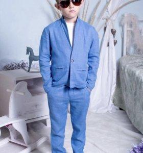 Новый костюм на мальчика (Лён)