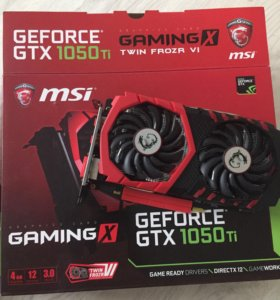 MSI 1050 Ti Gaming X 4GB на гарантии