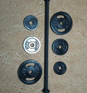 Штанга для фитнеса  21 кг