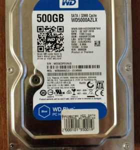 "Жёсткий диск WD Blue 3,5"" 500gb 7200rpm SATA3"