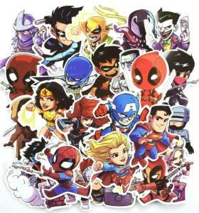 Набор стикеров Marvel Супер Герои