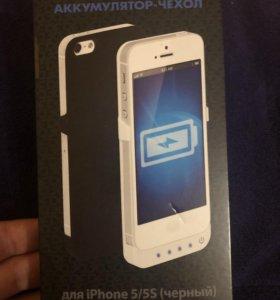 Аккумулятор-чехол для iPhone 5/5s/se (чёрный)