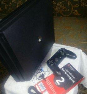 PS4 Pro 1Tb + фирменная подставка Sony + доп.гаран
