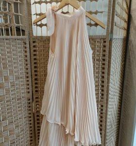 Нежное шифоновое платье размер 44-46