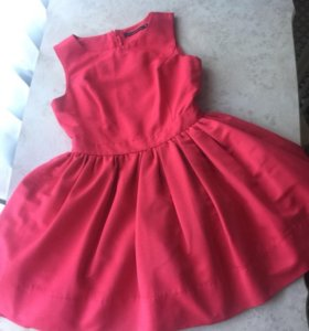 Новое розовое пышное платье