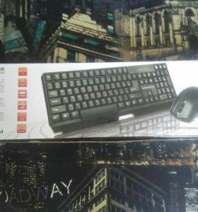 Беспроводной набор: клавиатура и мышка