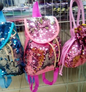Рюкзак с паетками в наличии
