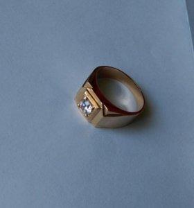 Золотое кольцо 585 пробы, «Перстень» мужской