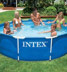 Продам каркасный бассейн intex 305Х76см, 4485Л