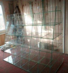 Клейка стеклянных витрин