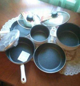 Новая посуда тефал из 5 предметов