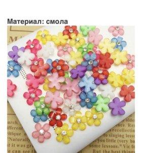 Цветы из смолы для скрапбукинга