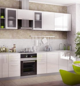 Кухонный гарнитур Белый. Цена за кухню