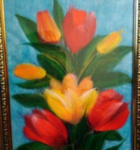 Тюльпаны картина 20-30см