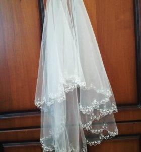 Фата новая свадебная