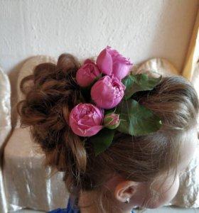 Причёски на выпускной маленьким принцессам.