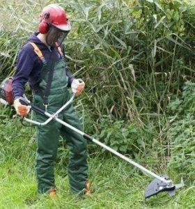 Услуги по стрижке травы бензокосом